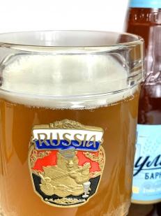 Пивная кружка с русским медведем