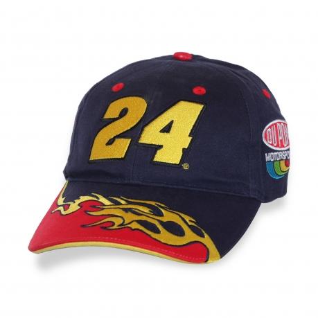 Пламенная кепка с номером 24®.
