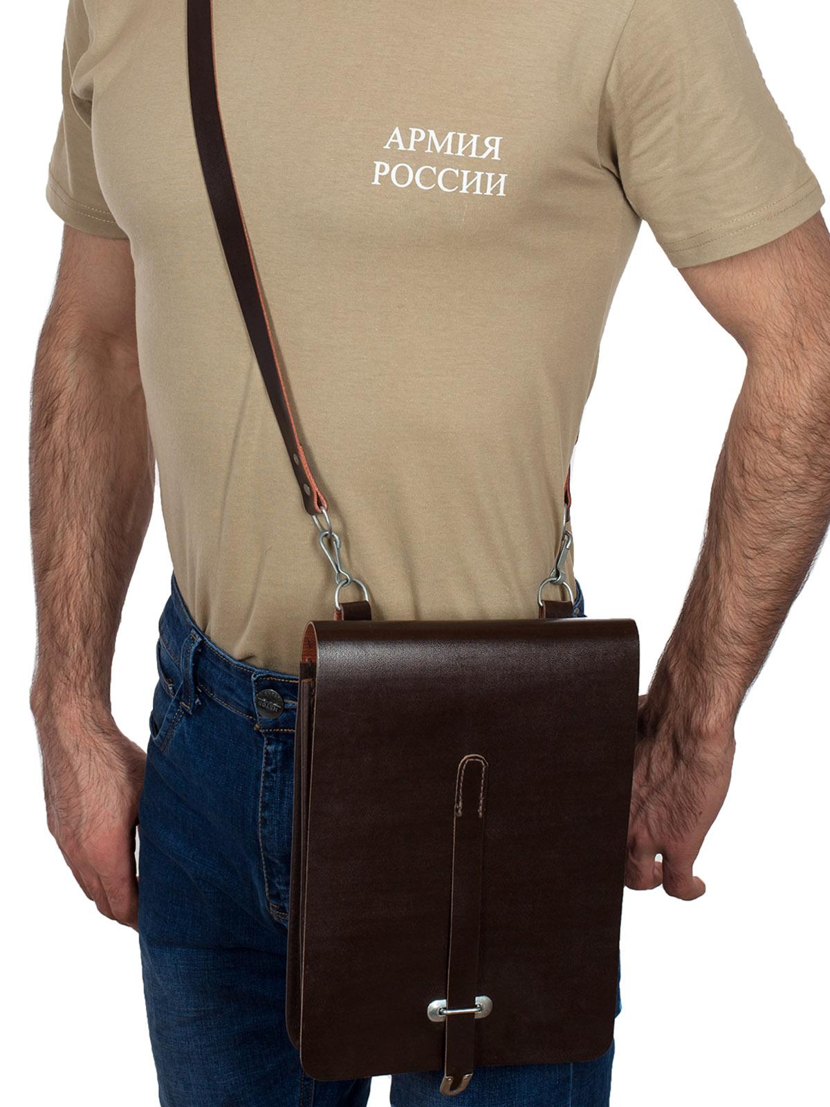 Кожаный офицерский планшет