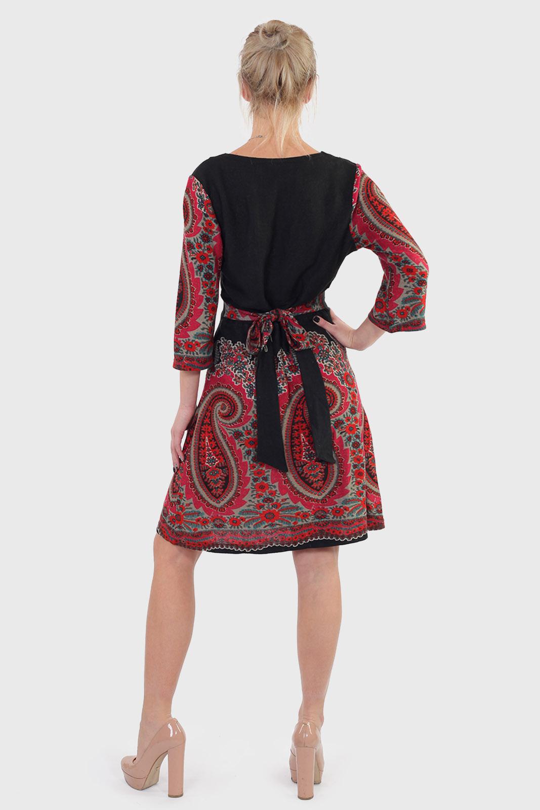 Богемная ЭТНИКА! Трикотажное платье А-силуэт от ANGIE.