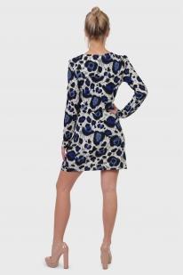 Платье Ada Gatti с необыкновенно красивым принтом «павлиний хвост».
