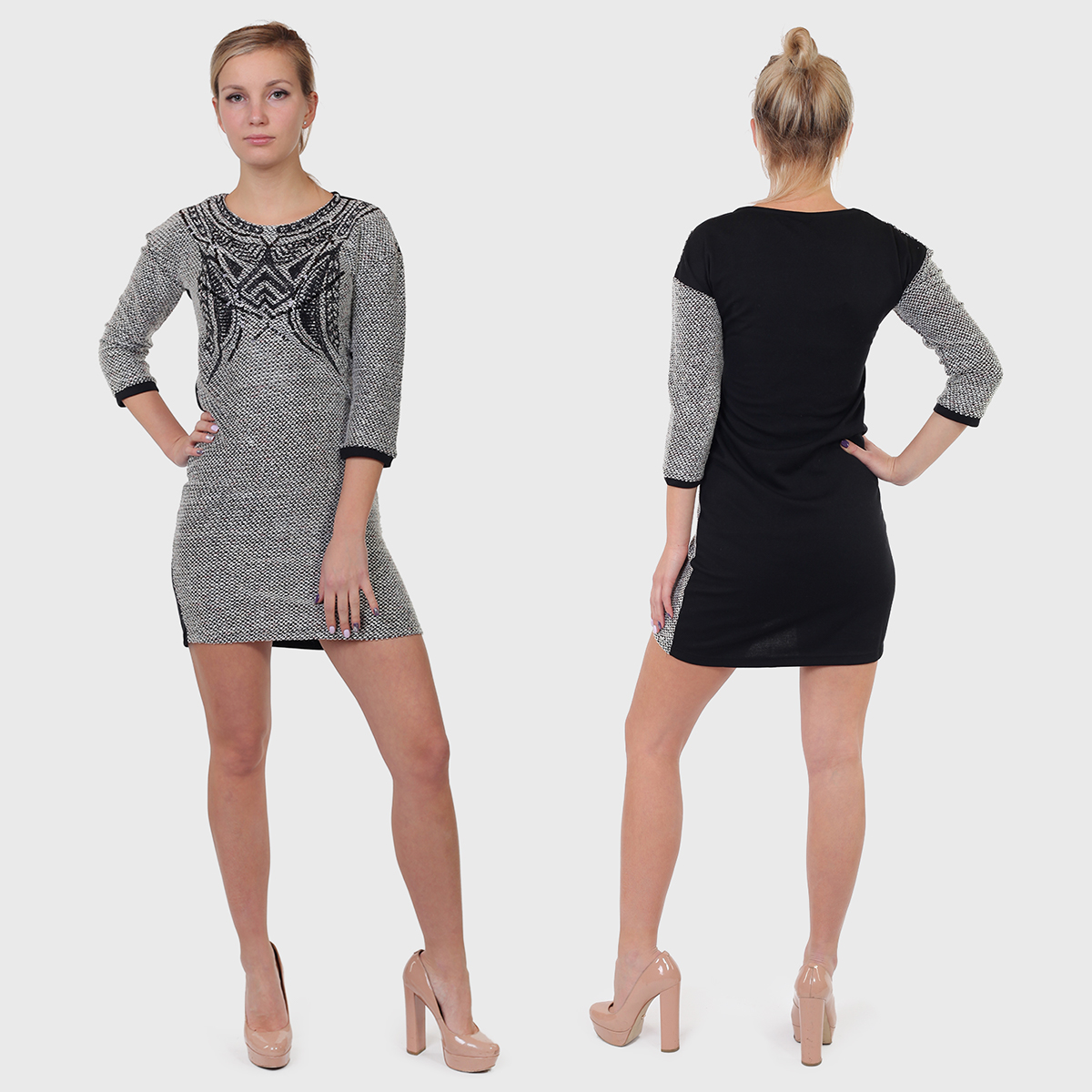 Элегантное платье осень-зима от испанского бренда Kruebeck.