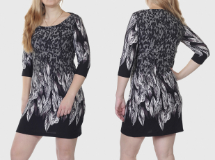 Платье туника Le Grenier в модном дизайне Анималистик.