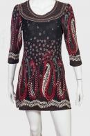 Дизайнерское платье с миндалевидным орнаментом БУТА.