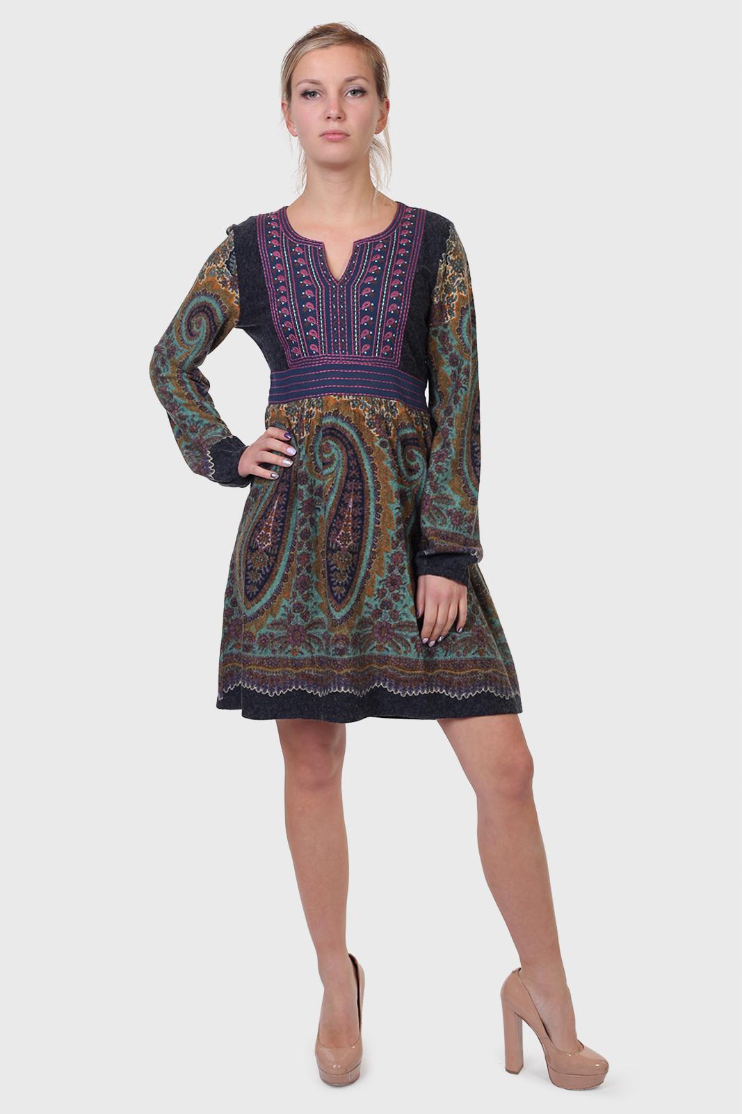 Купить в интернет магазине Военпро трикотажное платье на осень
