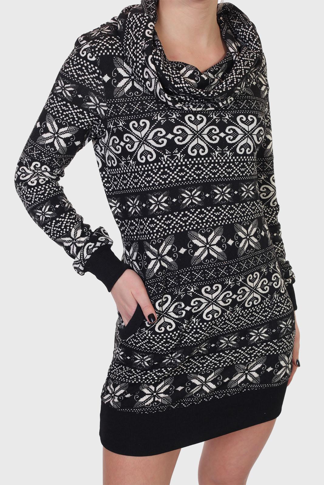 Платье-свитер Piazza Italia с объемным воротом.