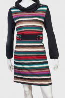Подчеркивающее талию трикотажное платье Rossella Bannana.