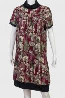Мягкое и уютное платье с броским принтом.