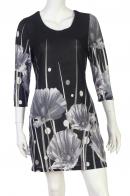 Заказать платье с крупными белыми цветами от LongBao