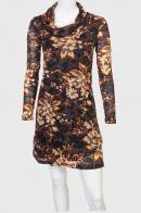 Заметное миди платье с воротником хомут.