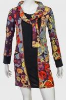 Платье с воротником-шарфом от Longbao.