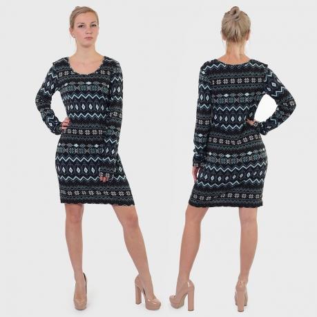 Эффектное платье-свитер EVAW.