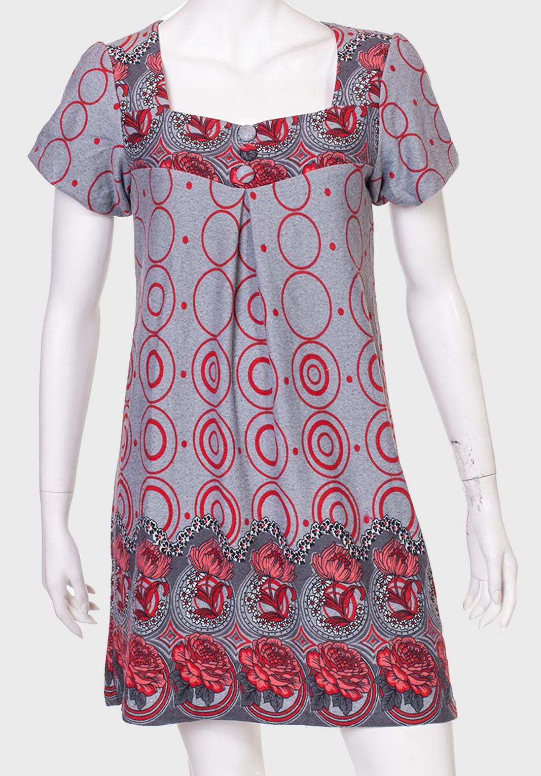 Платье-трапеция с коротким рукавом от ZB.