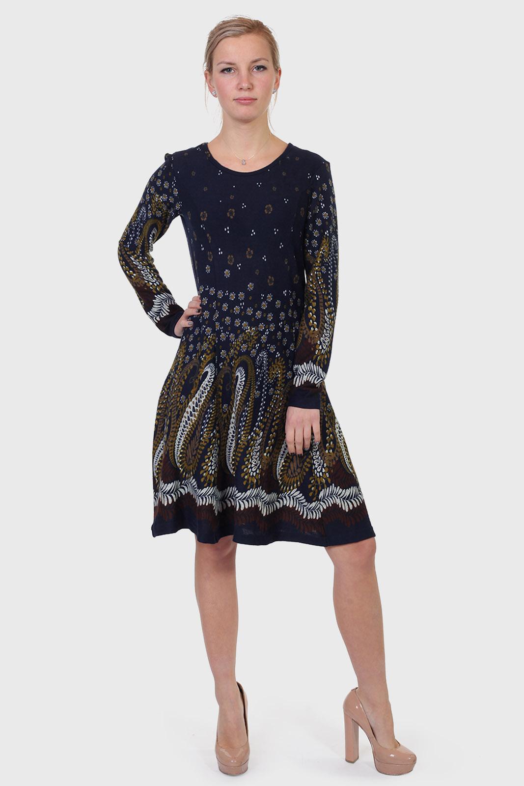 Недорогие трикотажные платья ниже колен