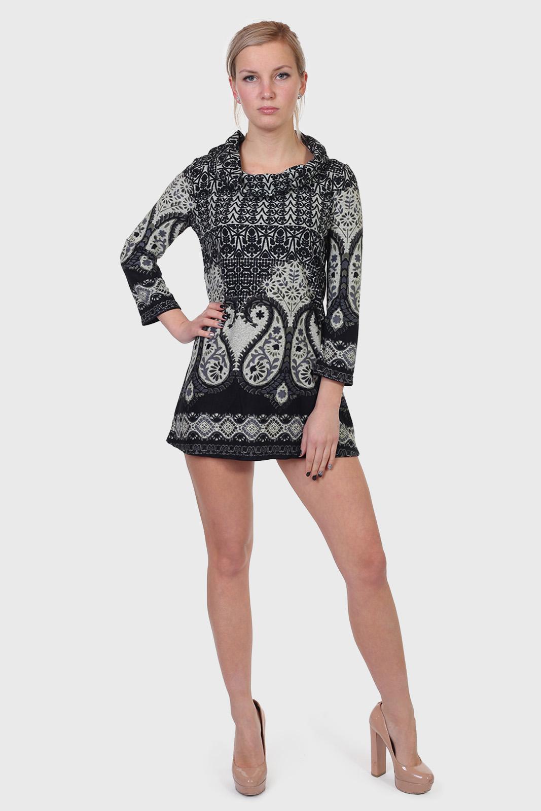 Купить недорого короткое платье трикотаж