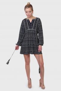 Этно эксклюзив! Трикотажное платье-туника PIA AITALIA с рукавами-воланами.