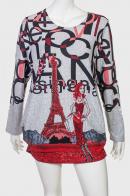 Платье-туника с парижской тематикой