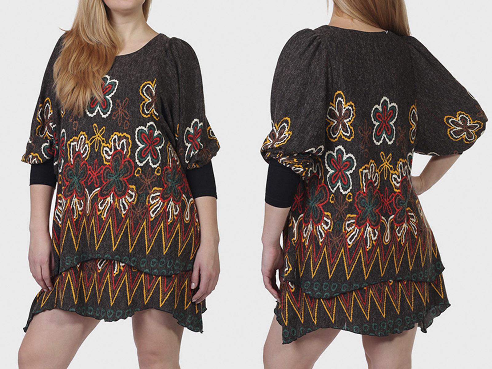 Хитовая многослойность БОХО! Шикарное платье туника Sand Studio.