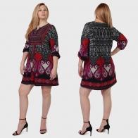 Женское платье-туника Qed London с фольклорными мотивами.