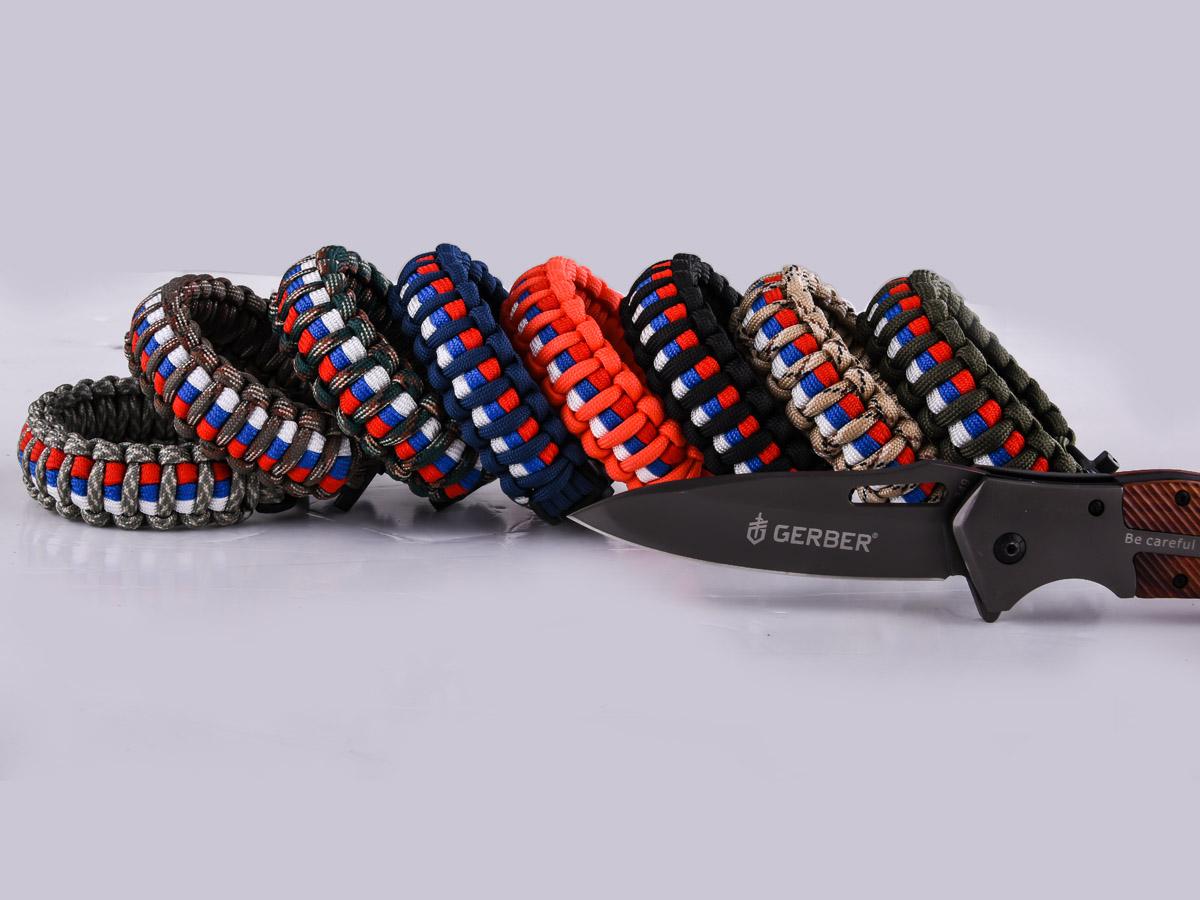 Высокопрочный плетёный браслет для мужчин