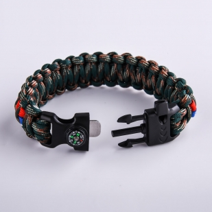 Плетёный браслет для мужчин - пряжка-фастекс