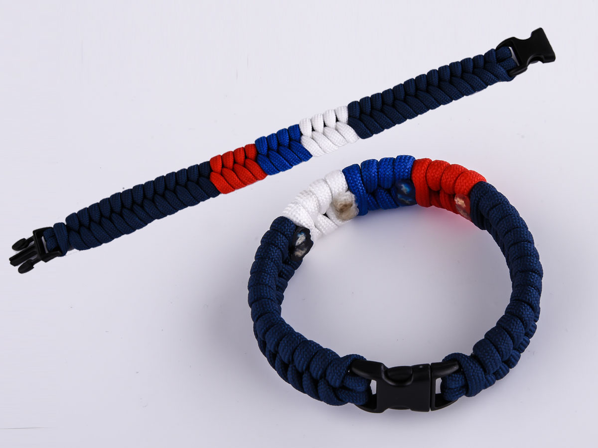 Плетёный браслет из нейлонового шнура