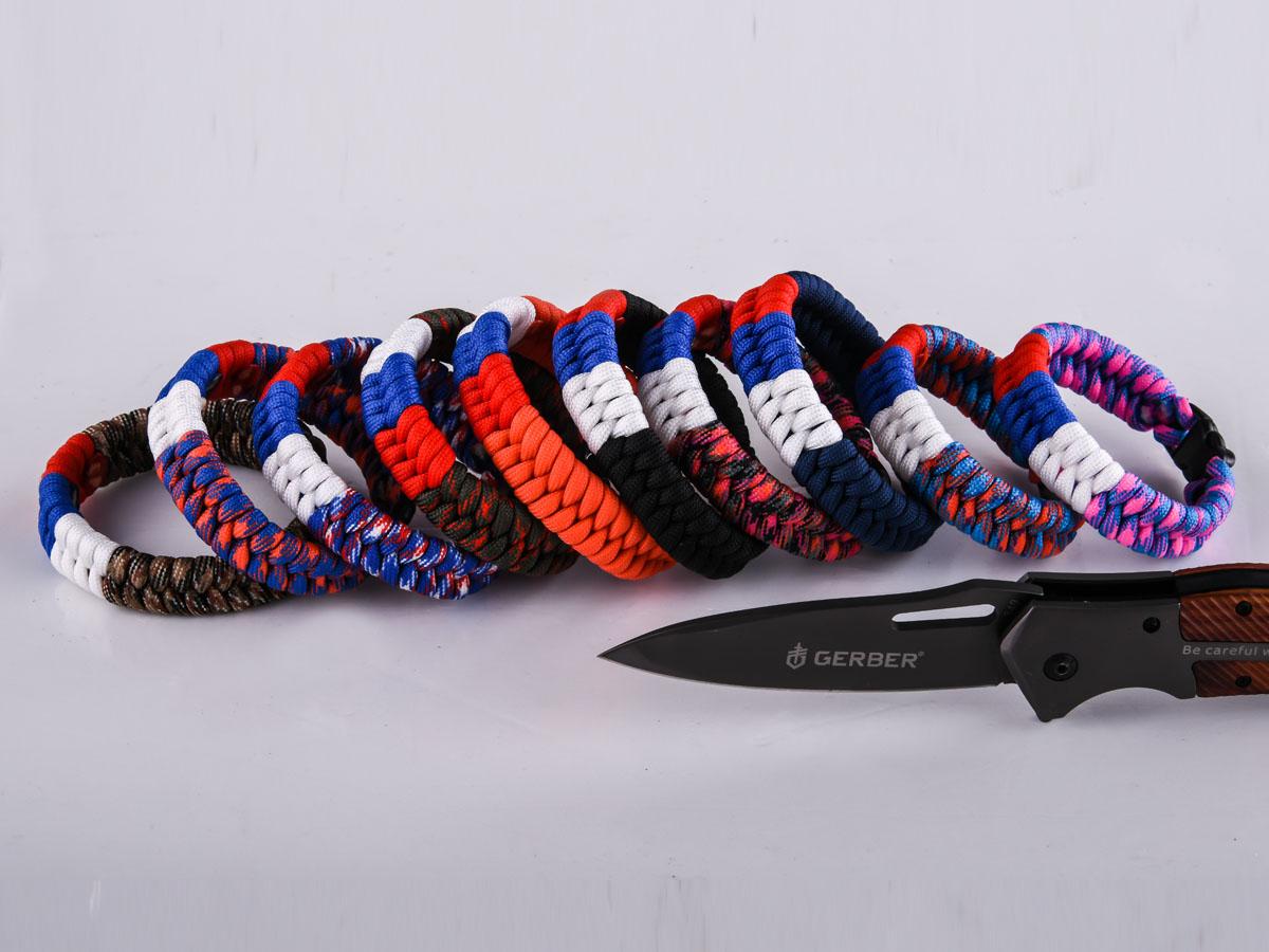Плетёный браслет из шнура высокого качества