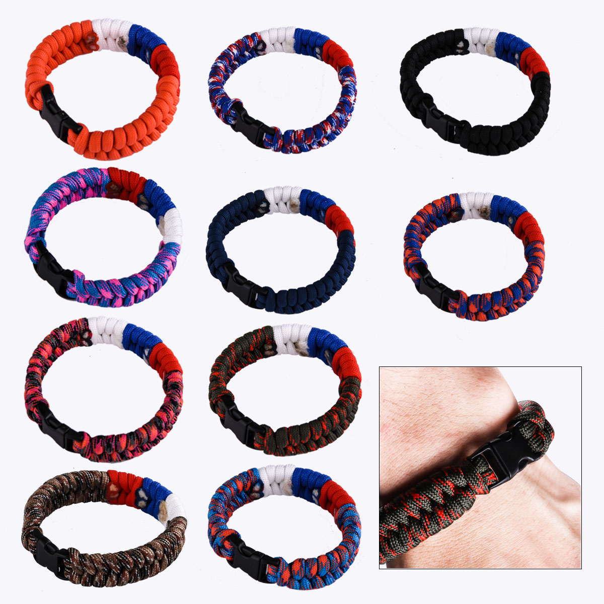 Плетёные браслеты из верёвок высокого качества