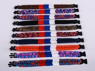 Плетёный браслет из верёвок с доставкой на выбор