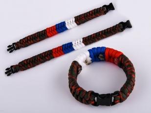 Плетёный браслет из верёвок нейлоновых