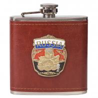 Плоская фляжка Русский медведь