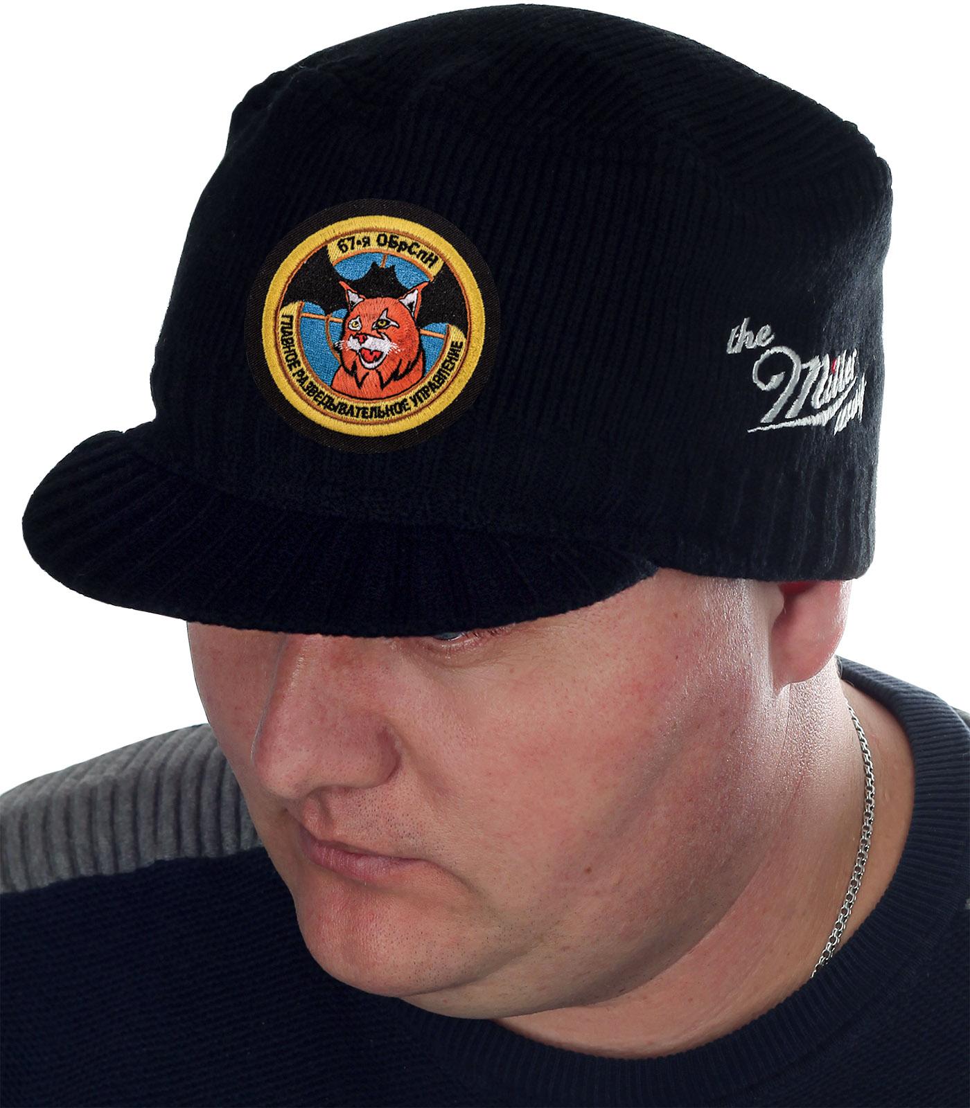 Плотная черная шапка с козырьком от Miller Way - заказать в подарок