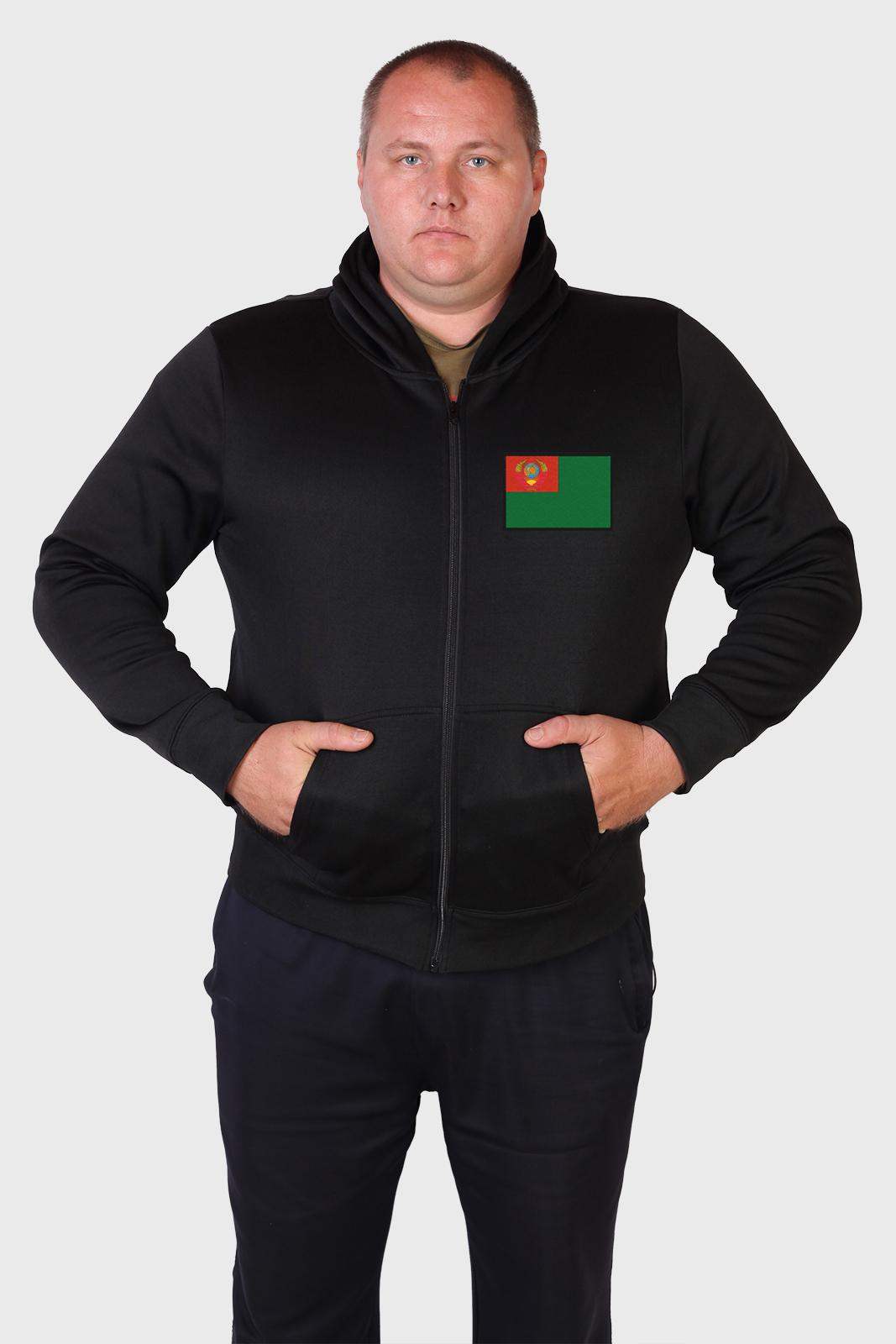 Плотная мужская толстовка с символикой Погранвойск