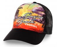 Пляжная бейсболка New Smyrna Beach (Флорида). Лучший город для серфинга и жизни. Любители драйва, налетай!