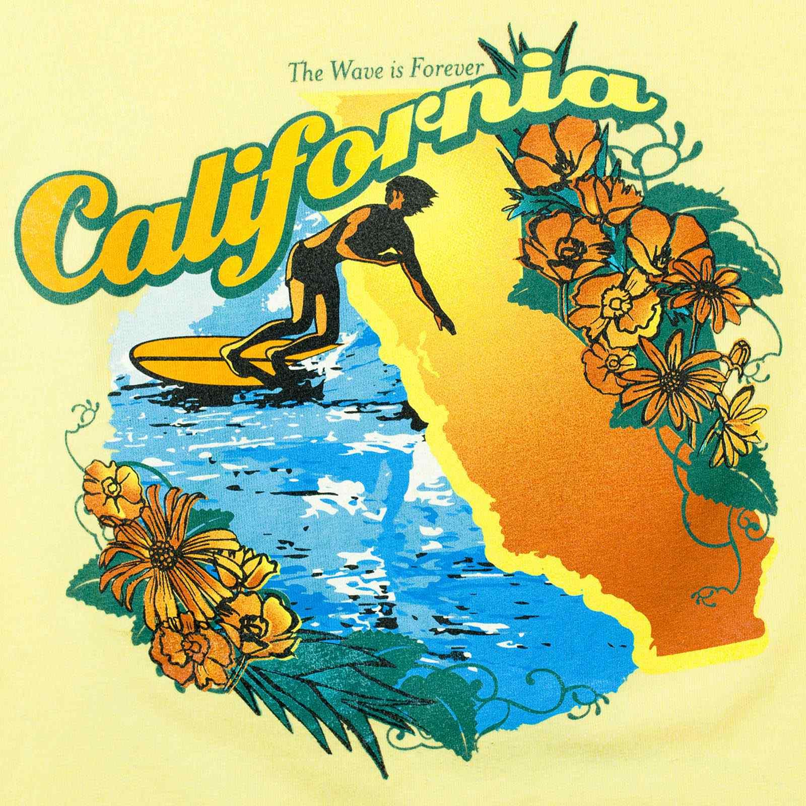 Пляжная футболка для сёрферов The wave is forever