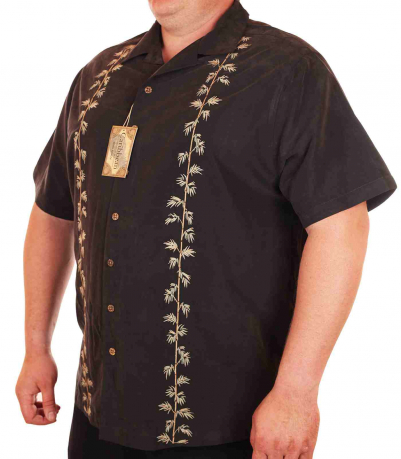 Пляжная рубашка Caribbean большого размера (батал)-3