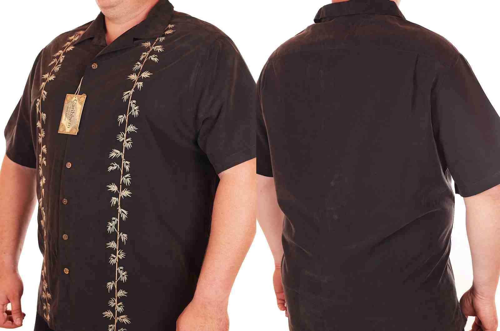 Пляжная рубашка Caribbean большого размера (батал)-4