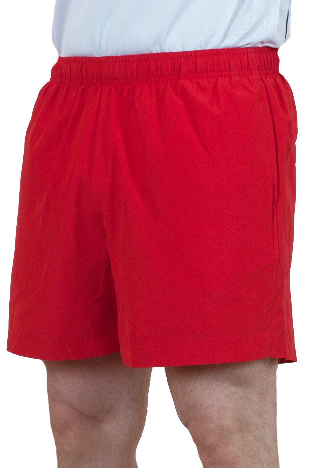 Пляжные мужские шорты красного цвета