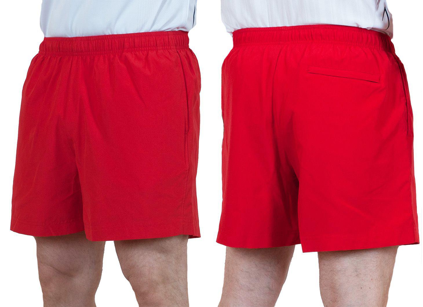 Заказать пляжные мужские шорты красного цвета
