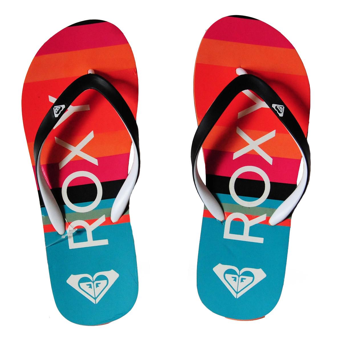 Брендовые пляжные шлепанцы Roxy - купить онлайн в интернет-магазине