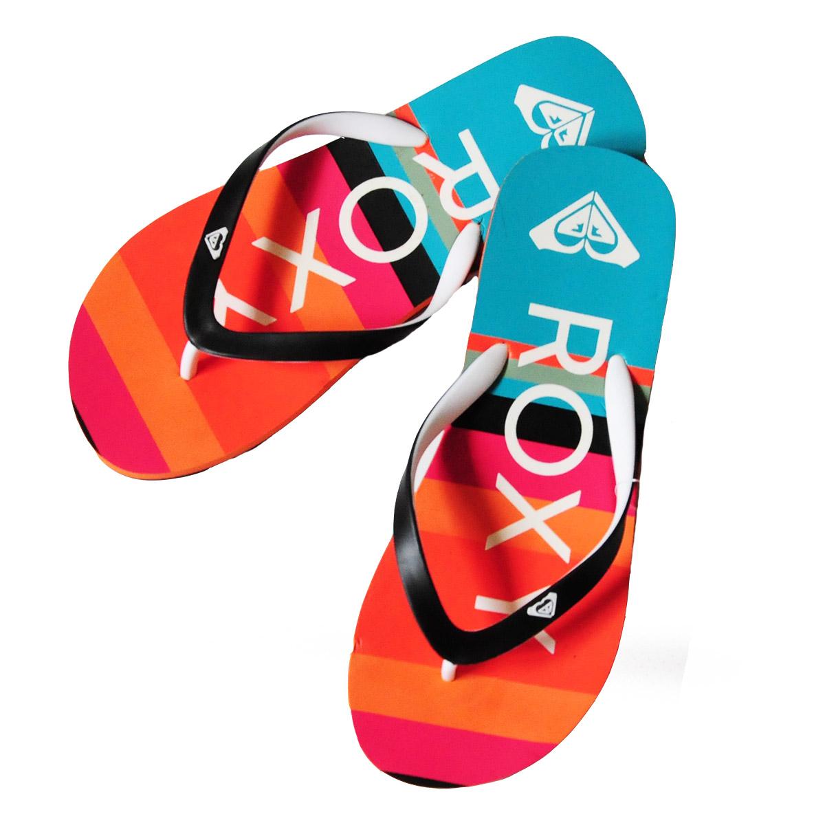 Заказать брендовые пляжные шлепанцы Roxy - купить онлайн в интернет-магазине