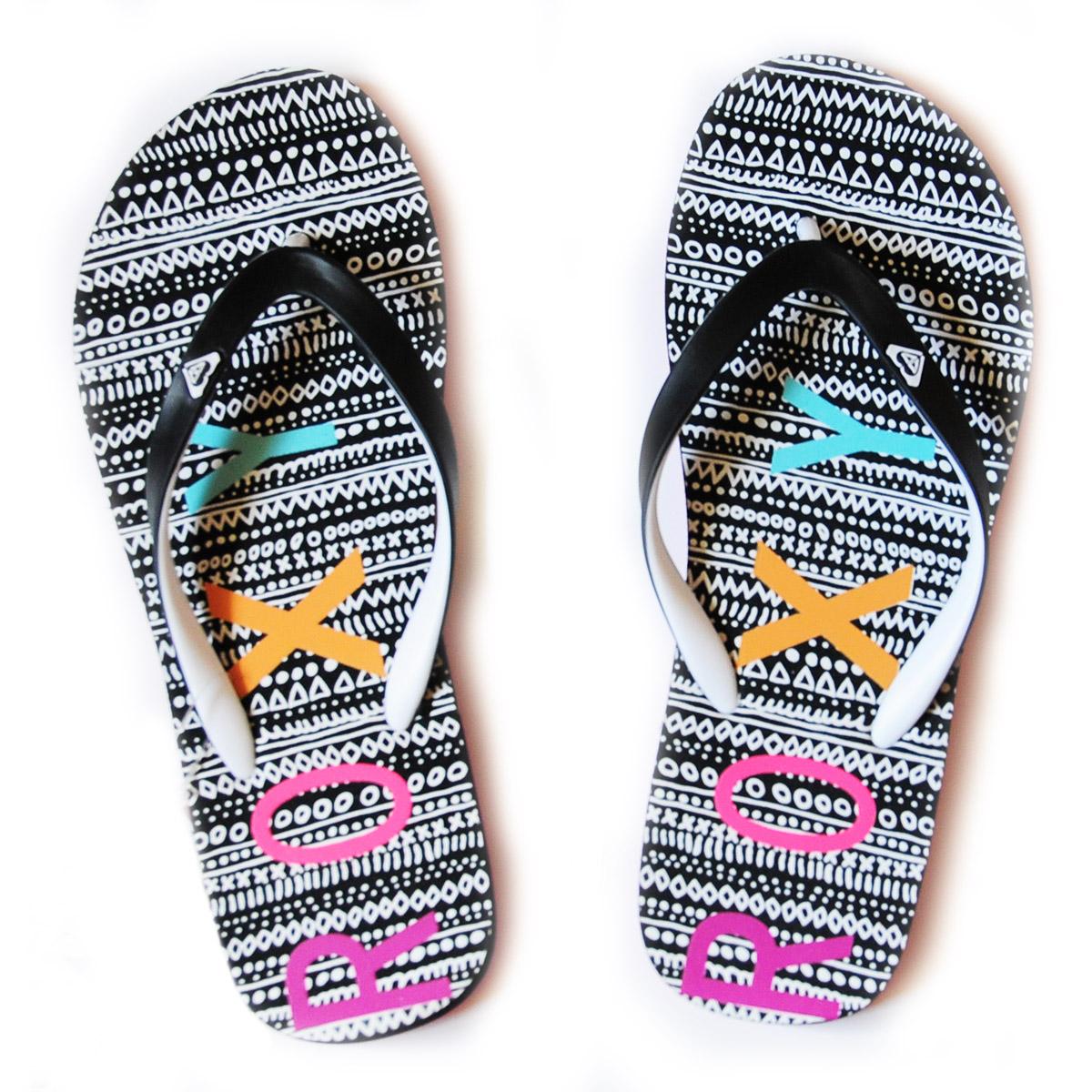 Удобные пляжные шлепки от Roxy - купить онлайн в интернет-магазине