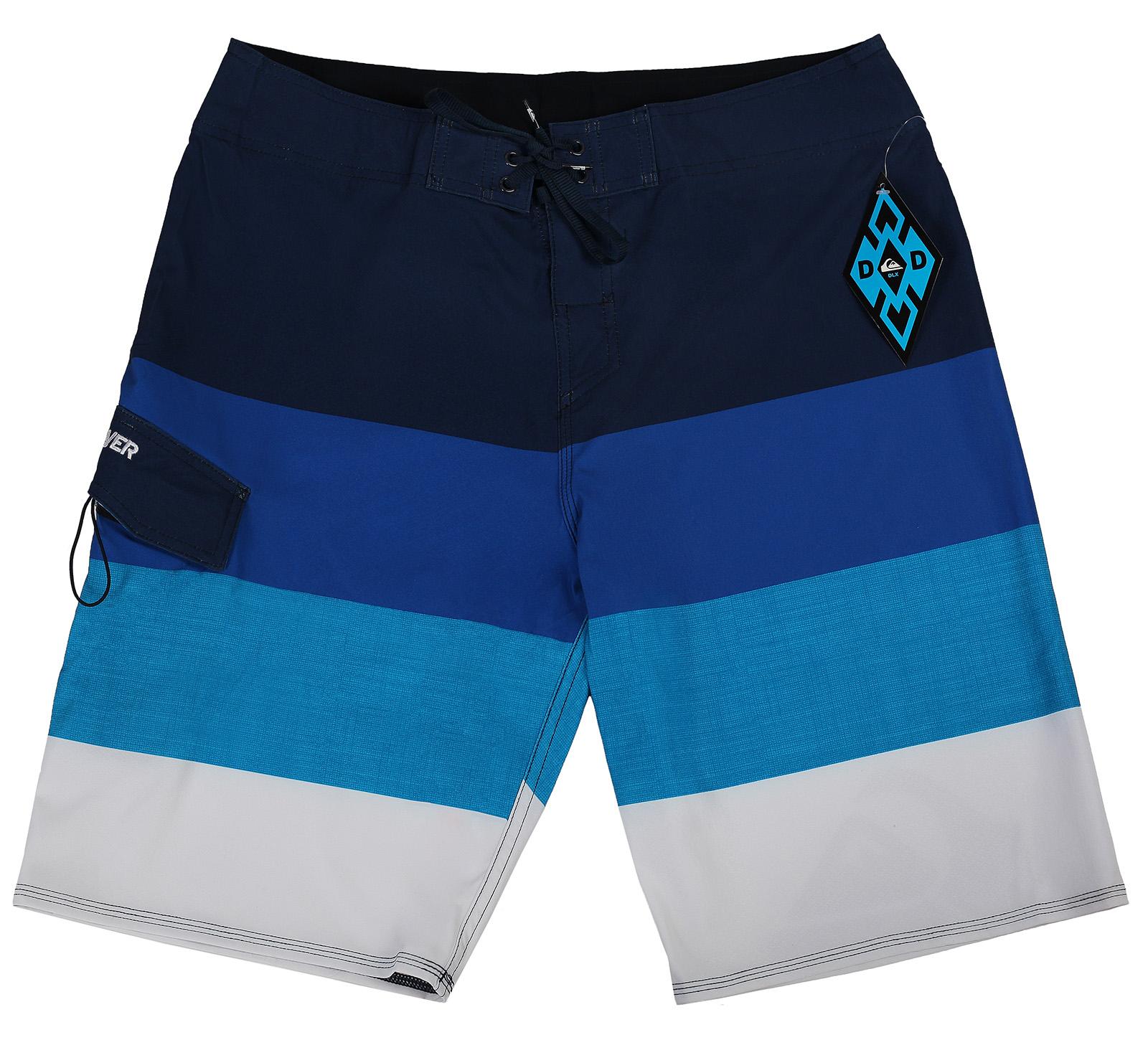 Пляжные шорты Quiksilver  в широкую горизонтальную полоску
