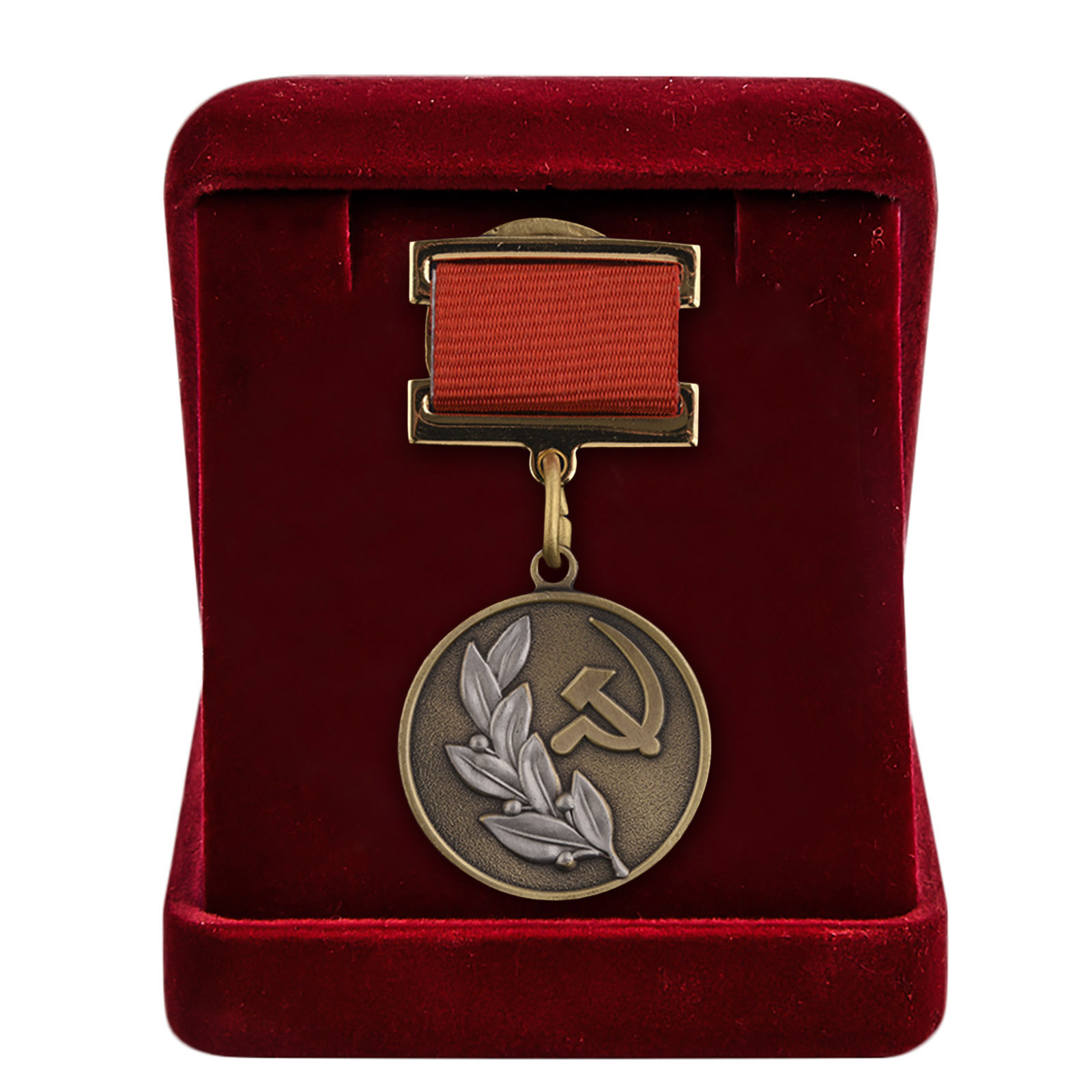 Почетный знак лауреата Государственной премии 3 степени в бархатистом футляре