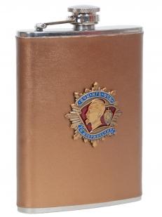 Заказать подарочную фляжку ФСБ (обтянутая кожей, металлическая накладка)