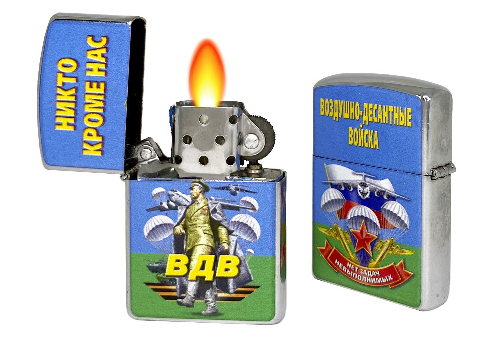 Подарочная зажигалка десантника по цене 299 рублей