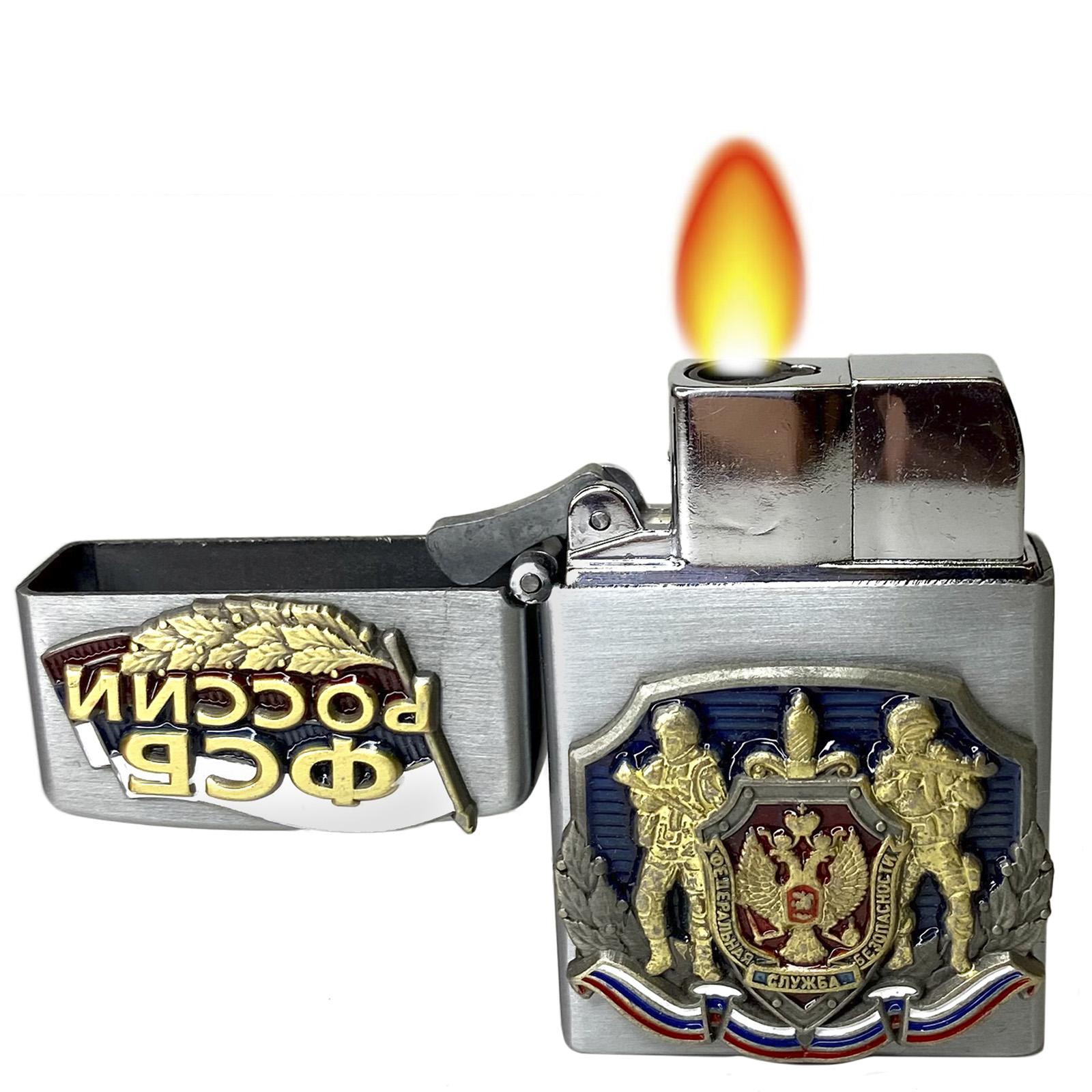 Купить подарочную зажигалку к 100-летию ФСБ по выгодной цене