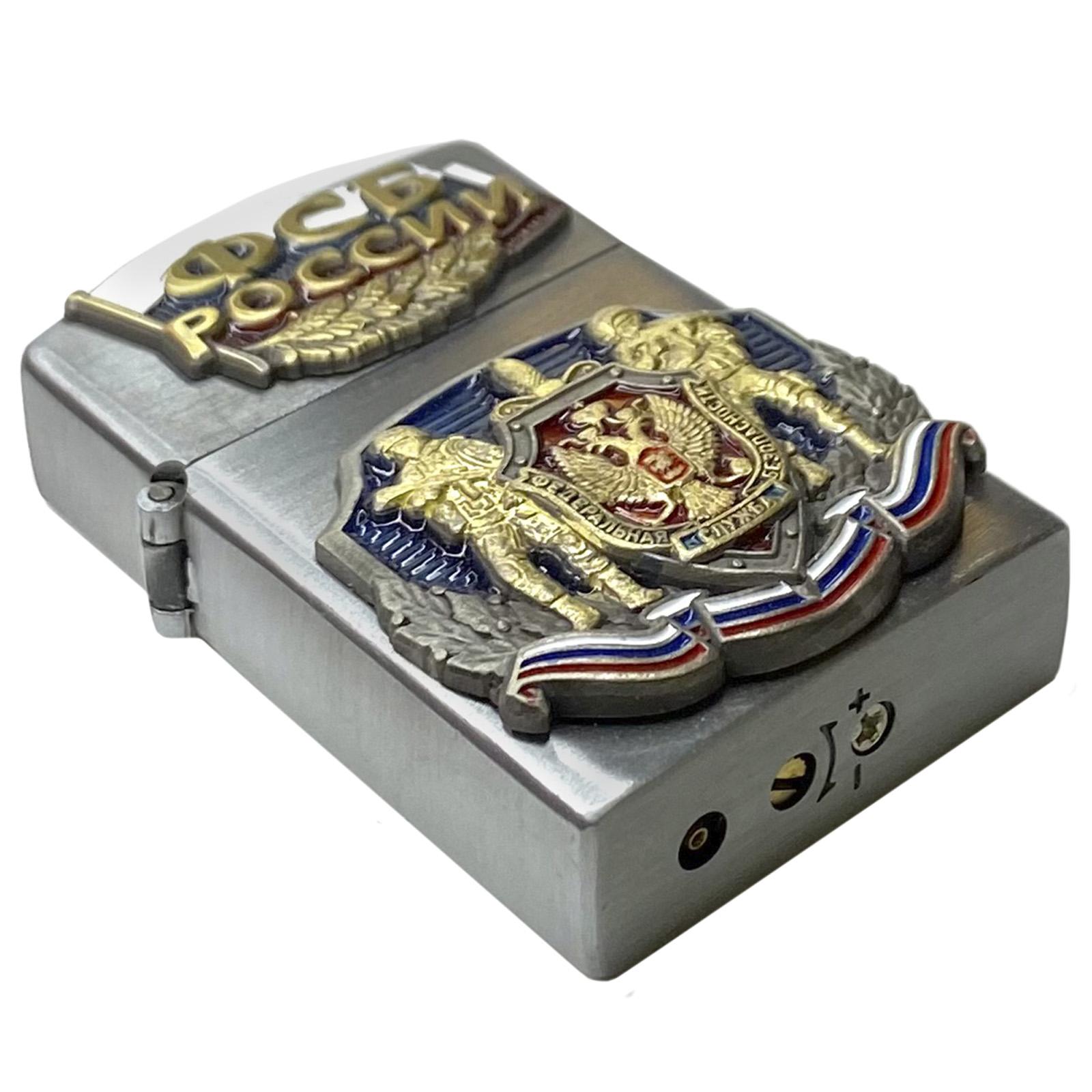 Подарочная зажигалка ФСБ по выгодной цене