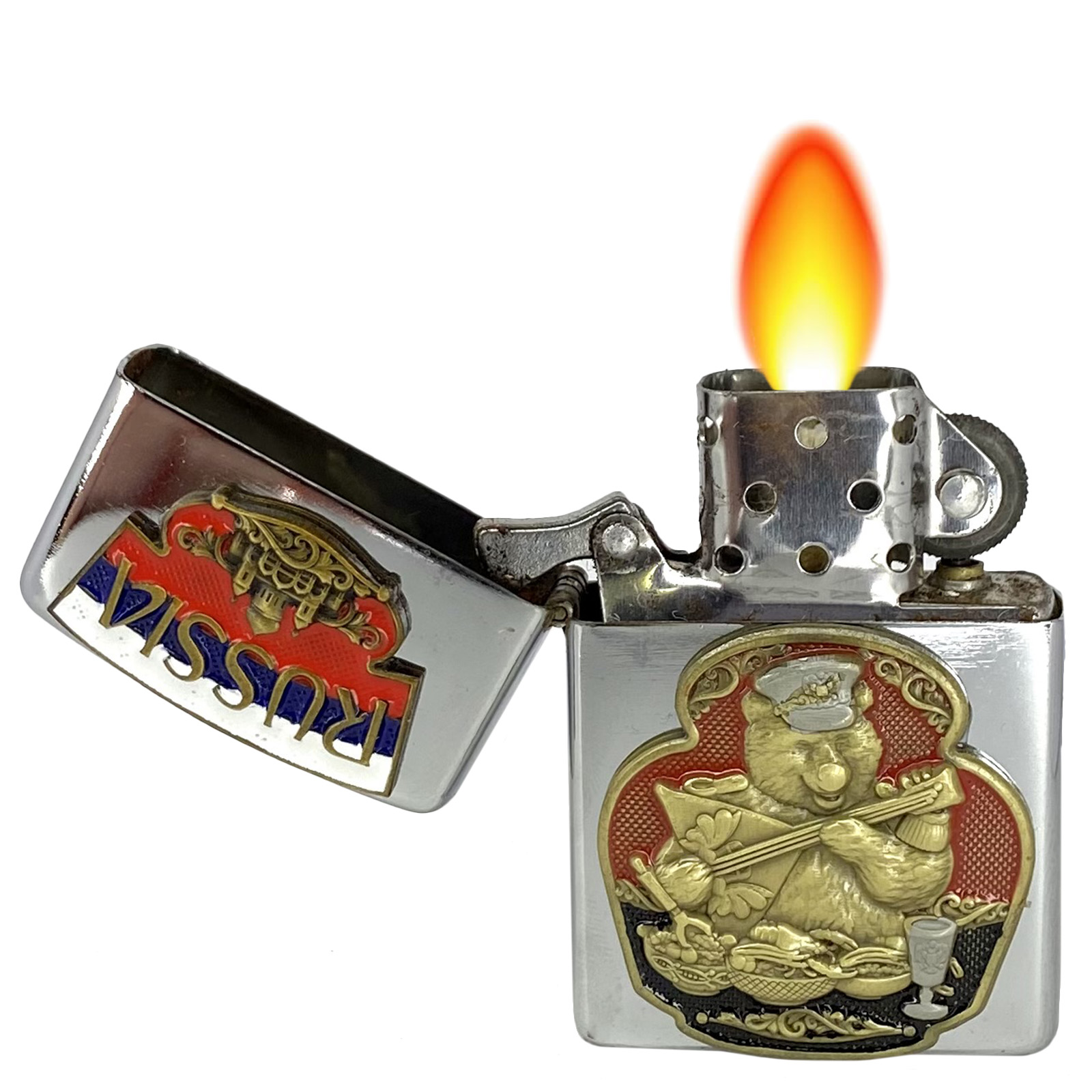 """Подарочная зажигалка """"Русский медведь"""""""