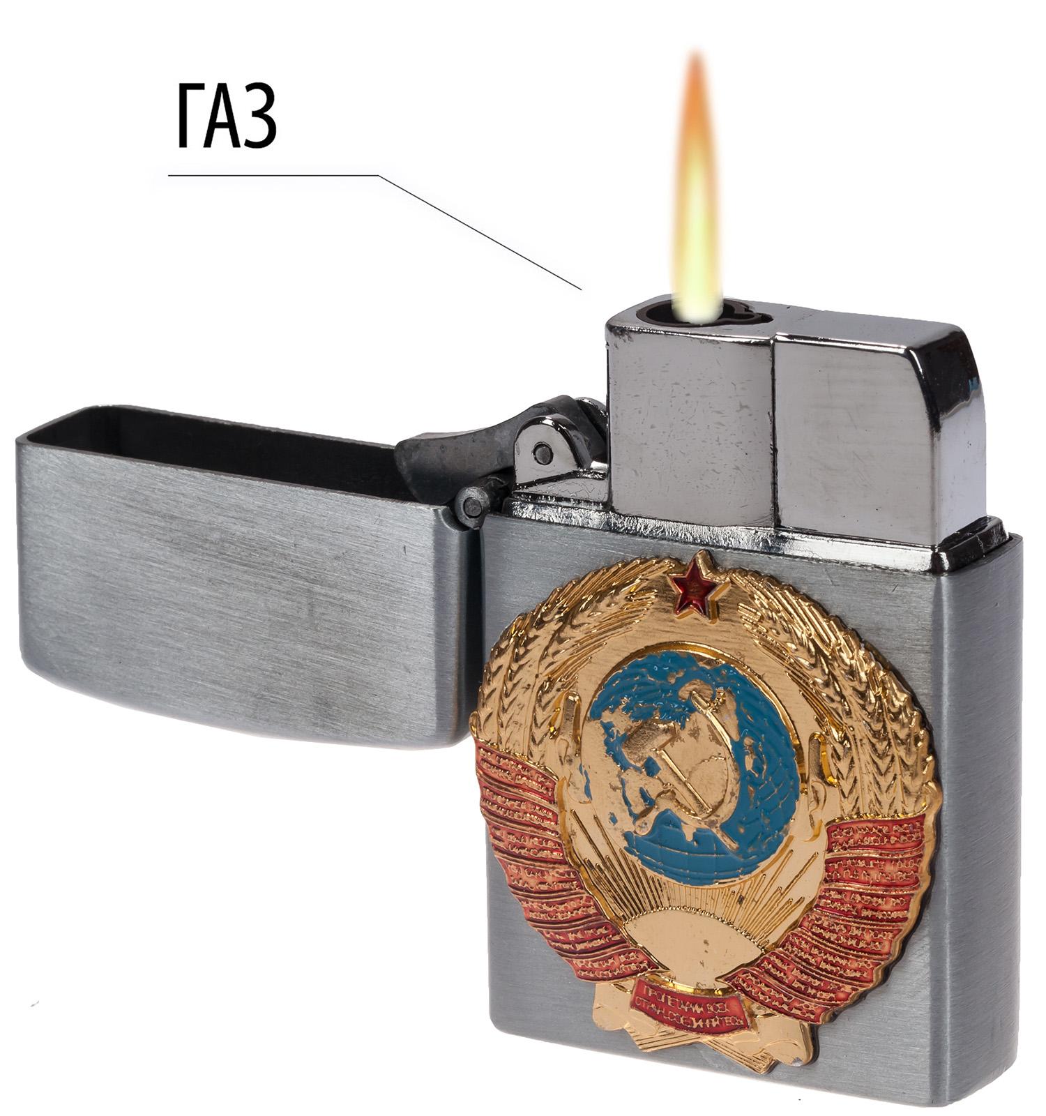 Подарочная зажигалка с гербом СССР